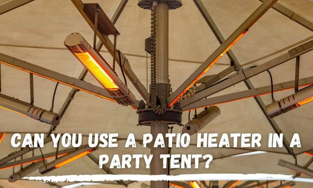 Patio Heater In A Party Tent